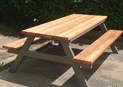 table pique nique métal