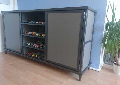 meuble rangement acier bicolore