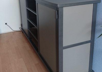 meuble rangement acier