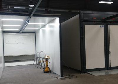 cabine de peinture thermolaquage