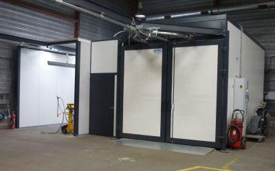 Atelier de thermolaquage intégré chez Yoursteel