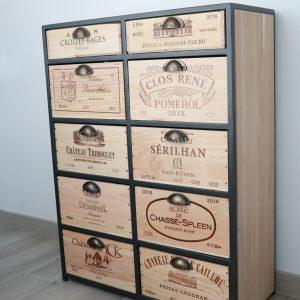 meuble rangement winebox